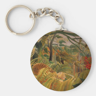 Tiger in a Tropical Storm by Henri Rousseau Keychain