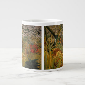 Tiger in a Tropical Storm by Henri Rousseau Large Coffee Mug