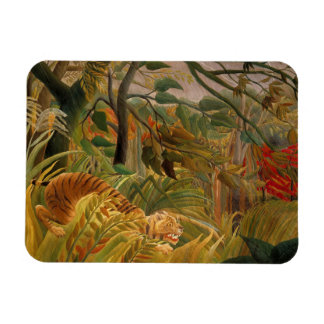 Tiger in a Tropical Storm by Henri Rousseau Magnet