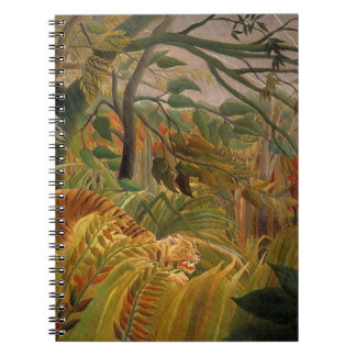 Tiger in a Tropical Storm by Henri Rousseau Notebook