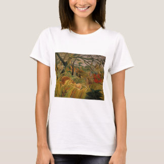 Tiger in a Tropical Storm by Henri Rousseau T-Shirt