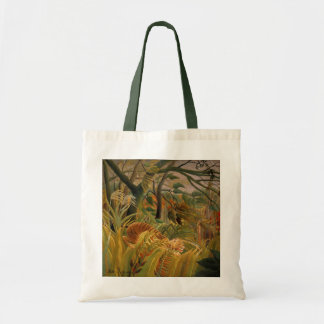 Tiger in a Tropical Storm by Henri Rousseau Tote Bag