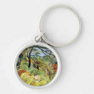 Tiger in a Tropical Storm Keychain