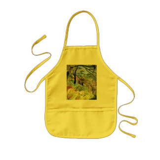 Tiger in a Tropical Storm Kids' Apron