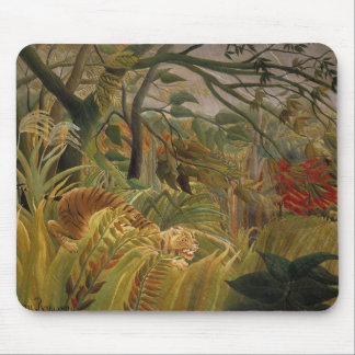 Tiger in a Tropical Storm Mouse Pad