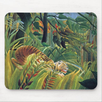 Tiger in a Tropical Storm (Surprised) Mouse Pad