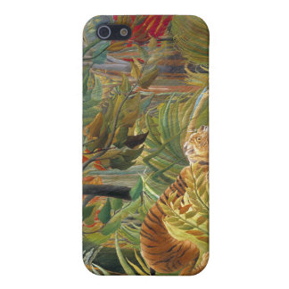Tiger in a Tropical Storm (Surprised!) Rousseau iPhone SE/5/5s Case