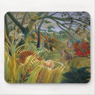 Tiger in a Tropical Storm (Surprised!) Rousseau Mouse Pad