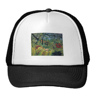 Tiger in a Tropical Storm (Surprised) Trucker Hat