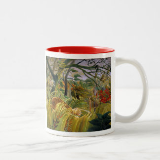 """Tiger in a Tropical Storm"" Two-Tone Coffee Mug"