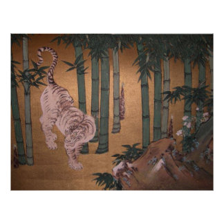 Tiger in Bamboo Grove by Kano Tan-yu Poster