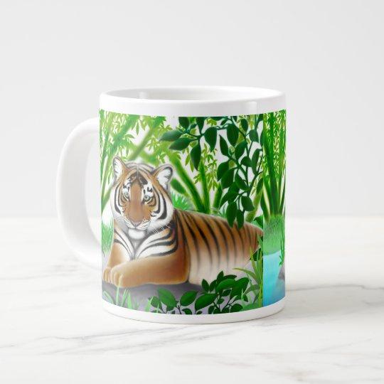 Tiger in Bamboo Jungle Jumbo Mug