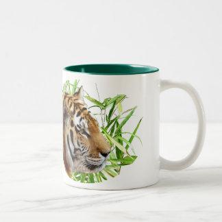 TIGER IN BAMBOO Two-Tone COFFEE MUG