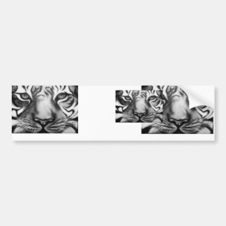Tiger in Black and White Bumper Sticker