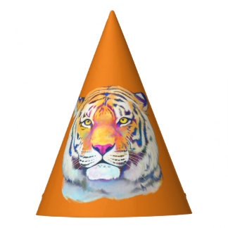 Tiger in Colors Birthday Hat