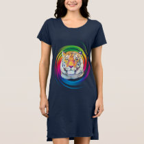 Tiger in Colors Dress