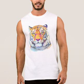 Tiger in Colors Sleeveless Shirt