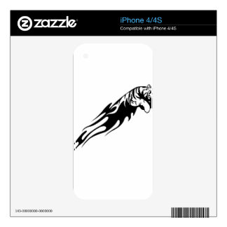 Tiger in Flames Decals For iPhone 4S