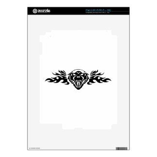 Tiger in Flames iPad 2 Decals