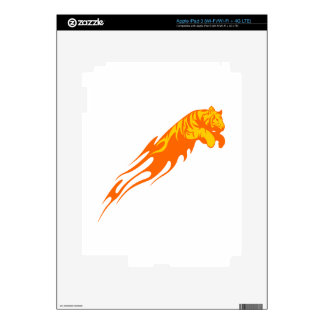 Tiger in Flames iPad 3 Decal