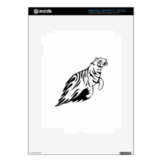 Tiger in Flames iPad 3 Skins