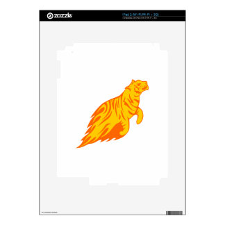 Tiger in Flames Skin For The iPad 2
