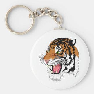 Tiger In My Tank Basic Round Button Keychain