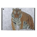 Tiger in snowflakes Ipad case