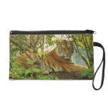 Tiger in The Forest Wristlet Purses