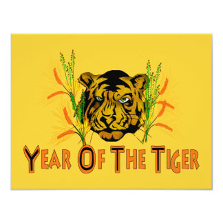 Tiger In The Grass Card
