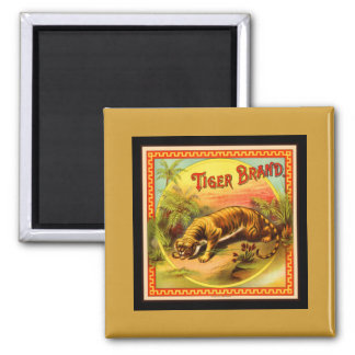 Tiger in the Jungle 2 Inch Square Magnet