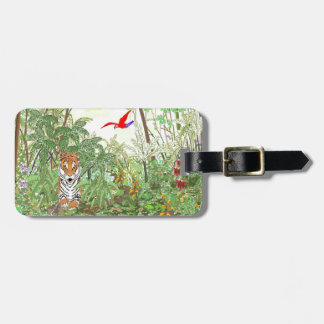 Tiger in the Rainforest Bag Tags