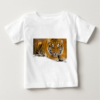 TIger in the Snow Ready to Attack Baby T-Shirt