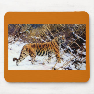 Tiger in the Snow Wild Cat Mouse Pad