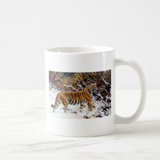 Tiger in the Snow Wild Cat Mugs