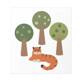 Tiger In Trees Memo Note Pads
