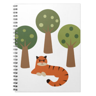 Tiger In Trees Notebook