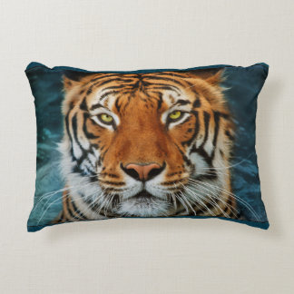 Tiger in Water Photograph Decorative Pillow