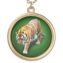 TIGER IN YOUR DIRECTION GOLD PLATED NECKLACE