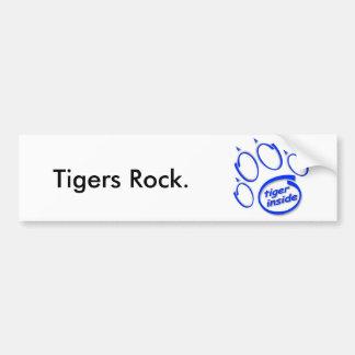 tiger Inside Bumper Sticker Car Bumper Sticker
