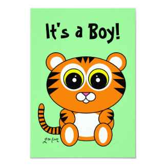 Tiger 3.5x5 Paper Invitation Card