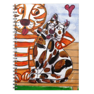 Tiger is in Love Notebook