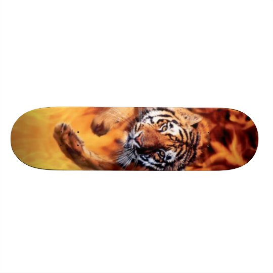 Tiger Jumping Skateboard Deck