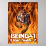 Tiger Jumping Through Flames Poster