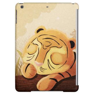 "Tiger Jungle Art ""Sleepy Face"" Cover For iPad Air"