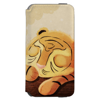 "Tiger Jungle Art ""Sleepy Face"" iPhone 6/6s Wallet Case"