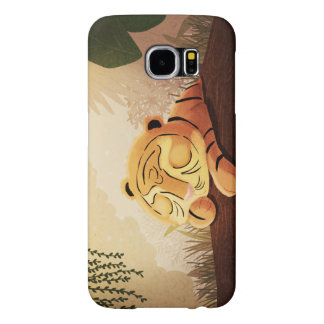 "Tiger Jungle Art ""Sleepy Face"" Samsung Galaxy S6 Cases"