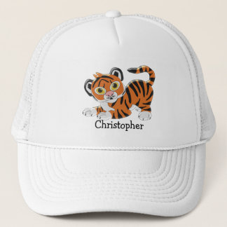 Tiger Just Add Name Trucker Hat