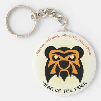 Tiger Key Basic Round Button Keychain
