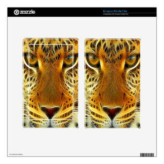Tiger Kindle Fire Decals